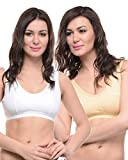 Best Exercise Bras - BODYCARE Pack of 2 Sports Bra in White-Skin Review