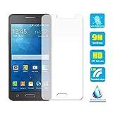 Somefun 2pcs clair cristal film protecteur d'écran en verre trempé pour Samsung Galaxy Grand Prime G530G530F G530H G531h éraflures Résistent à traces Dureté 9H