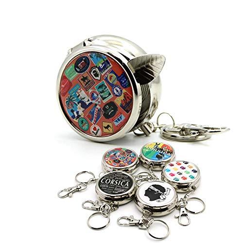 Preisvergleich Produktbild PoeticHouse 1PCS TaschenaschenbecherRunder Tragbarer Aschenbecher,  Taschenaschenbecher Für Kreative PersönlichkeitenZufällige Farben Ingenious