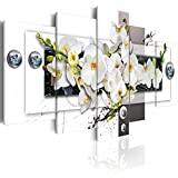 murando - Akustikbild Blumen Abstrakt 100x50 cm - Wandbilder - Schallschutz - Vlies Leinwand - Akustikdämmung - 5 Teilig - Wandbilder XXL - Schallschlucker - Wandbild - leise - b-C-0150-b-n