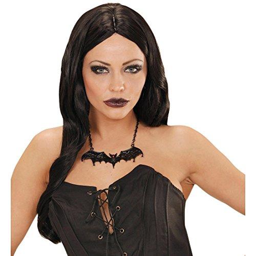 NET TOYS Fledermaushalskette Halloween Schmuck Halskette Fledermaus Gothik Halsschmuck Vampir Halsband Collier Kette Kostüm Accessoire Hexe