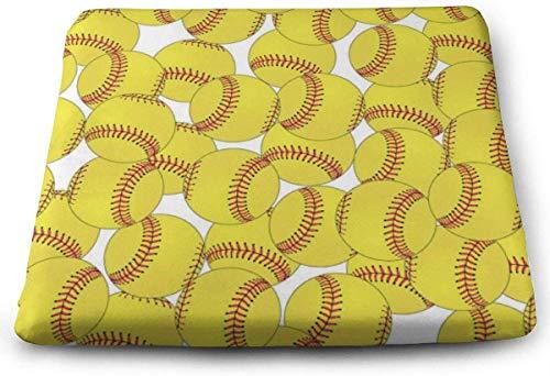 Softball Yellow Orthopaedic Memory Foam Sitzkissen - Hilft bei Ischias-Rückenschmerzen - Perfekt für Ihren Bürostuhl und das Sitzen auf dem Boden -