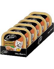 Cesar Adult Wet Dog Food, Lamb & Vegetables, 6 Trays (6x100g)