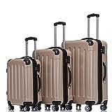 BEIBYE- 3er Kofferset Hartschalen-Koffer Reisekoffer Trolley Rollkoffer Set Reisekofferset