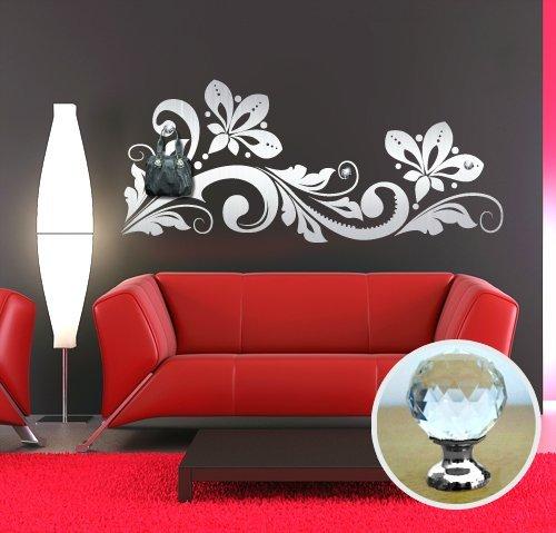 00461 Adesivo murale con pomelli stile Swarovski