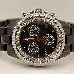 Aqua Master Ladies Ceramic Diamond Watch 1.25ctw W1155