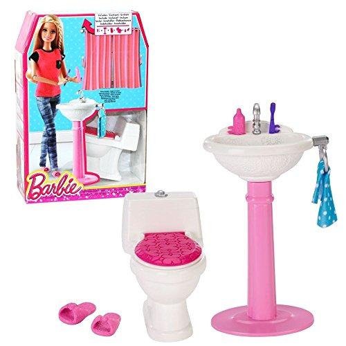 Barbie - Mobili Arredamento Bagno - WC e Lavabo con Accessori