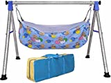 #10: baby cradle swing kids chair indian style ghodiyu sleep swing blue