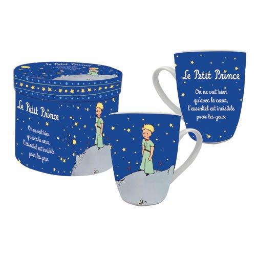 LE PETIT PRINCE Coffret Individuel Mug LPP Nuit Etoilée, Céramique, Bleu, 9 cm