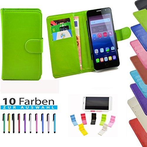 5 in 1 set ikracase Slide Hülle für Haier Voyage V5 Tasche Case Cover Schutzhülle Smartphone Etui in Grün 5.5