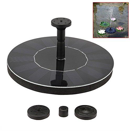 Huangyabo pompa di galleggiamento del giardino del kit del pannello della fontana di energia solare di galleggiamento per birdbath per