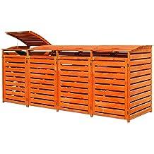 Mülltonnenverkleidung für vier 240 Liter Tonnen in Holz