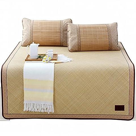 Liang Xi Shui Bamboo Mat Hand-woven Bamboo Mat 1.5 / 1.8 M Thick Natural Bamboo Mat Summer Mat,Style A,1.8m