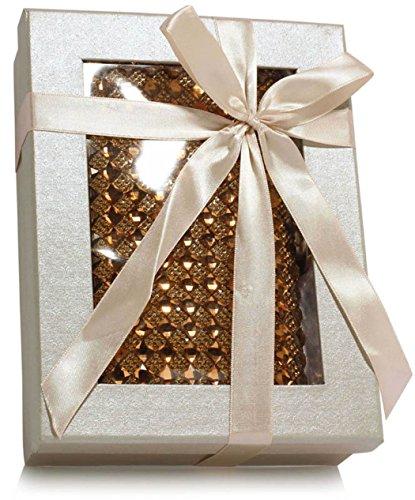 LeahWard Damen Diamante Sparkly Kristall Ring Abendtasche Für Hochzeits Abschlussball Brautnacht heraus CWE07 (Gold Diamant) Gold Diamant