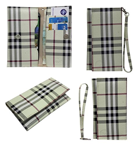 Jo Jo A5 BB Leather Wallet Universal Pouch Cover Case For Micromax A52 Superfone Beige  available at amazon for Rs.390