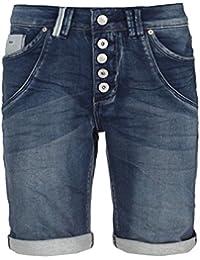 Urban Surface Blaue Damen Sweat Bermuda | Elegante Jeans-Shorts mit Aufschlag und klassischem 5-Pocket Design | Kurze Hose aus hochwertigem Denim