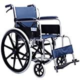 QFFL Wheelchair Elderly Steel Folding Folding Chair Disabled Scooters Small Wheelchair 80 * 26 * 89.5cm Crutches Walker
