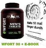 WFORT's 90er PACK – MANNESKRAFT STÄRKEN – Stärkungsmittel Supplement für mehr Lust und Ausdauerleistung mit E-BOOK