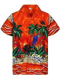 4128045b2 V.H.O. Original King Kameha   Funky Hawaiian Shirt   Men   XS-12XL   Short-Sleeve    Front-Pocket   Hawaiian-Print  …