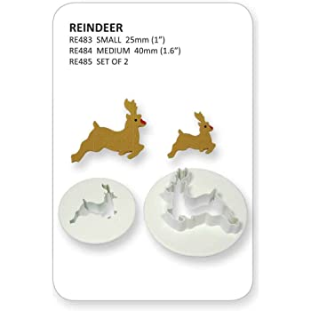 PME Christmas Reindeer Sugarcraft Cutters 25mm/40mm