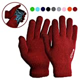 SMARTPHONE CAPACITIVE TOUCH SCREEN GUANTES UNISEX-BORDEUAX GRANATA