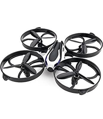 TOZO Q2020 Drone RC Quadcopter Altitude Hold Headless RTF 3D 360 Degree Flips & Rolls 6-Axis Gyro 4CH 2.4Ghz Remote Control Helicopter Height Hold Steady Super Easy Fly for Training.
