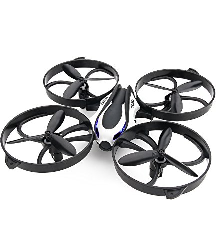 TOZO reg; Q2020 Drone RC Quadcopter Altitude Hold Headless RTF 3D 360 Degree Flips & Rolls 6-Axis Gyro 4CH 2.4Ghz Remote Control Helicopter Height Hold Steady Super Easy Fly for Training. Black