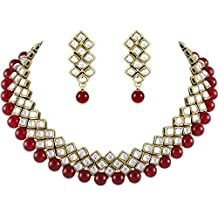 Shining Diva Latest Kundan Choker Traditional Necklace Jewellery Set for Women