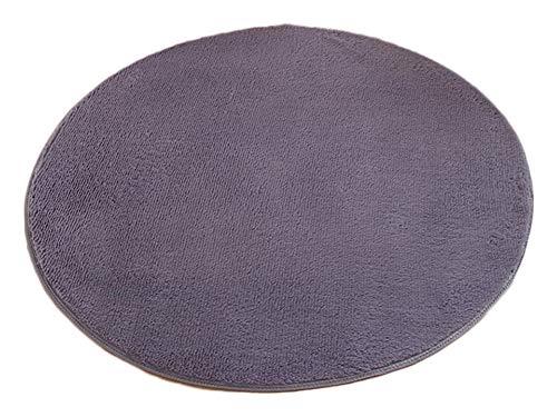 ZhuiKunA Shaggy Rund Weich Teppich,Wohnzimmer Schlafzimmer Kinderzimmer Stuhlkissen Bodenmatte Silber Grau (120 cm) -
