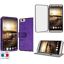 Ultra violet Collection cocodrilo Funda de Cuero para Cubot X15 Flip Case Cover (Estuche) - FUNDA SOPORTE / PU Cuero - Accesorios Case Industry Smart Magnet
