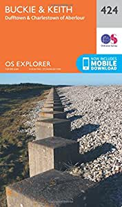 OS Explorer Map (424) Buckie and Keith (OS Explorer Paper Map) (OS Explorer Active Map)