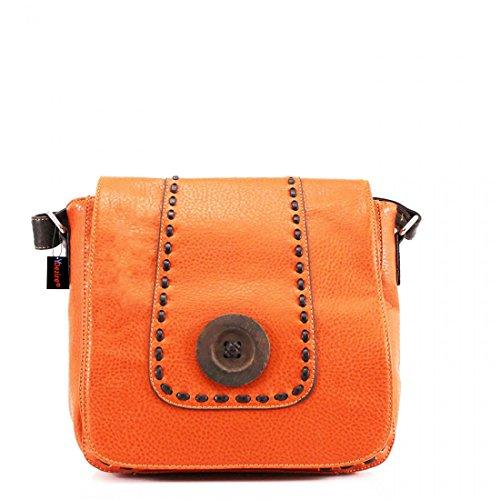 HB Style, Borsa a secchiello donna Multicolore Multicoloured M Orange