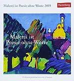 Malerei ist Poesie ohne Worte - Kalender 2019: 53 Kunstpostkarten mit Zitaten