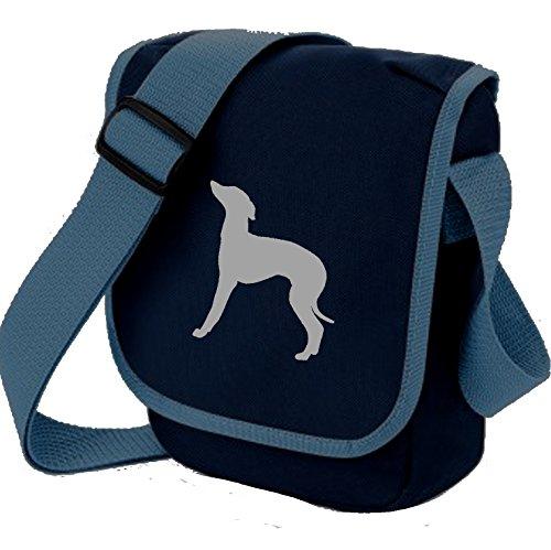 Bag Pixie - Borsa a tracolla unisex adulti Iggy Grey on Blue
