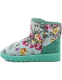 Botas Mujer, Transer® Las mujeres botas de tobillo forrado de piel de invierno otoño caliente botas de nieve zapatos