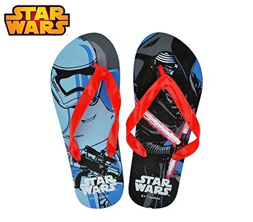 SWE7043 Ciabatte infradito in gomma per bambino Star Wars. MWS (35/36, Celeste)