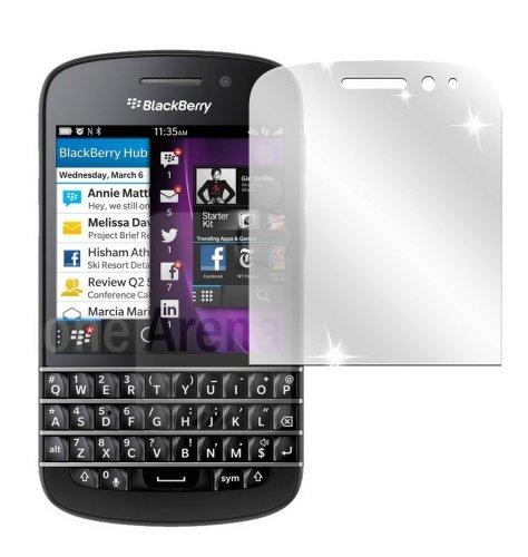 Ecultor I 6X Schutzfolie klar passend für BlackBerry Q10 Folie Bildschirmschutzfolie