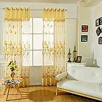 MORESAVE Tulip Sheers Window Drape Sciarpa Valance tende stanza del portello balcone tenda a pannello