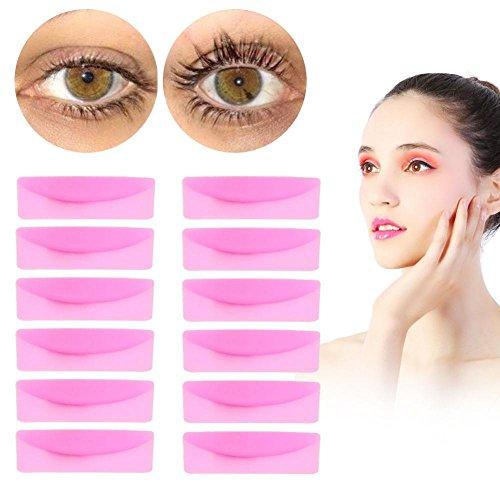 6 Pares Silicona Durable Rizador Pestañas Eye Lash