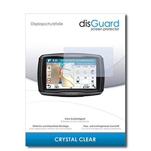 disGuard® Displayschutzfolie [Crystal Clear] kompatibel mit Garmin zumo 595LM [2 Stück] Kristallklar, Transparent, Unsichtbar, Extrem Kratzfest, Anti-Fingerabdruck - Panzerglas Folie, Schutzfolie
