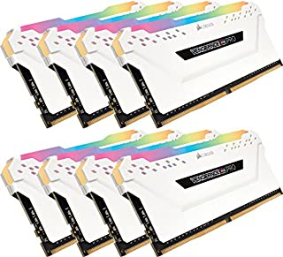 Corsair Vengeance RGB PRO 64 GB (8 x 8 GB) DDR4 2666 MHz C16 XMP 2.0 Enthusiast RGB LED Illuminated Memory Kit - White (B07D5RBQM8) | Amazon price tracker / tracking, Amazon price history charts, Amazon price watches, Amazon price drop alerts