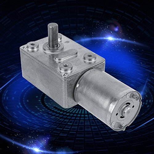 HOCOVER DC Geared Motor Full Metal Gear 12V Mini Electric Low Noise Voltage No-load Speed Reduction Motor for DIY Parts 100RPM//min