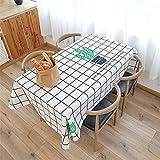 NQING Nappe en Coton Et Lin Étanche Épaississement Moderne Minimaliste Maison Table Nappe Décoration De Noël Une Nappe Un 140x230cm / 55x90In