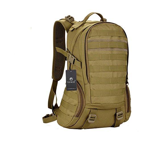 Preisvergleich Produktbild YAAGLE 35 L wasserdicht Rucksack Reisetasche Gepäck militärisch outdoor Schultertasche Schüler Schultasche Sporttasche-braun
