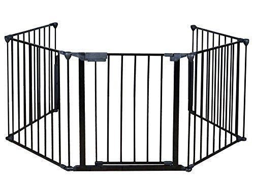 costzon New Kamin Zaun Baby Sicherheit Zaun Herzen Gate BBQ Metall FIRE Gate Pet Hund Katze (Erweiterbar Safety Gate Baby)