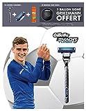 Gillette Edition Limitée Griezmann - Coffret Rasoir Mach3 Turbo + 1 Lame de Rechange + Gel à Raser Fusion Hydratant 200 ml