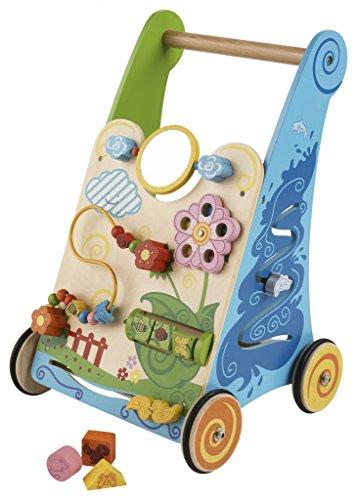 Unbekannt Activity Walker / Lauflernwagen mit Motorikspielen / Material: Holz / Maße: 33 cm breit - 50 cm hoch / Gewicht: ca. 3,9 kg / ab 1 Jahr