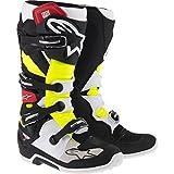 Alpinestars Tech 7 Stiefel, Farbe schwarz-rot-neongelb, Größe 9(43)