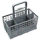 Spares2go Universal Panier à couverts pour lave-vaisselle Cage (Poignée Amovible, 240mm x 135mm x 125mm)