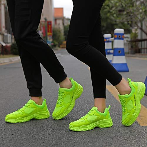 LOVDRAM Scarpe da Uomo Scarpe da Uomo Grandi Dimensioni Scarpe da Viaggio Casual da Uomo Scarpe da Corsa da Uomo, Verde Fluorescente, 37